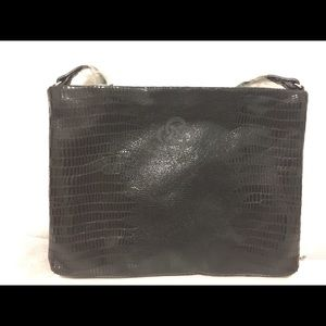 Stella and dot black leather bag